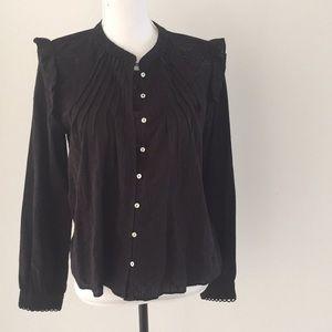 NWT Zara lace detail top black medium